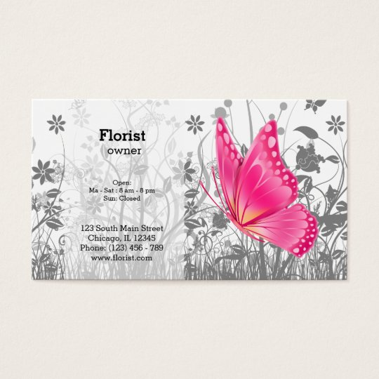 Fantasy Butterfly * choose background colour Business Card