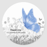Fantasy Butterfly * choose background colour Round Sticker