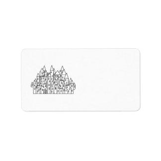 Fantasy Castle Label