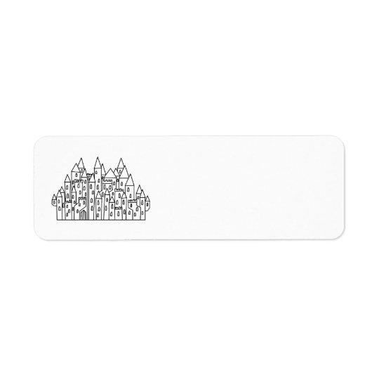 Fantasy Castle Return Address Label