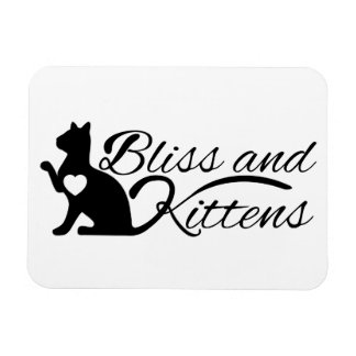 Fantasy Cats Oracle Affirmation Bliss and Kittens Rectangular Photo Magnet