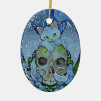 Fantasy Cats Oracle Affirmation - Death Christmas Ornament