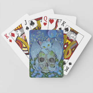 Fantasy Cats Oracle Affirmation - Death Playing Cards