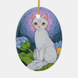 Fantasy Cats Oracle Affirmation - Mindfulness Christmas Ornament