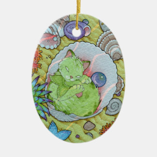 Fantasy Cats Oracle Affirmation - Sleep Christmas Ornament