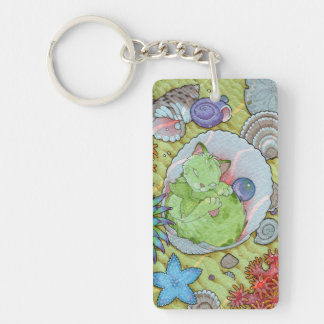 Fantasy Cats Oracle Affirmation - Sleep Double-Sided Rectangular Acrylic Key Ring
