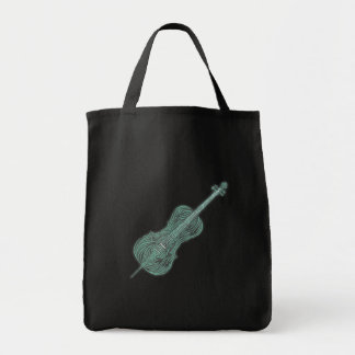 Fantasy cello of vines tote bag