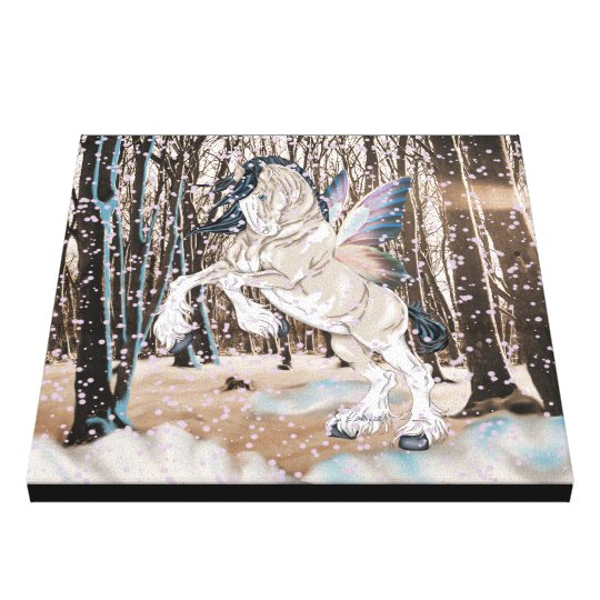 Fantasy Clydesdale Horse Fairy Canvas Print