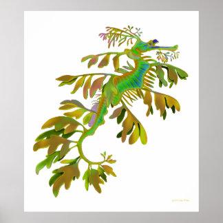Fantasy Colored Leafy Sea Dragon Poster