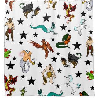 Fantasy Creatures Shower Curtain
