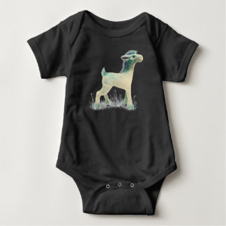 Fantasy deer - bodysuit for baby