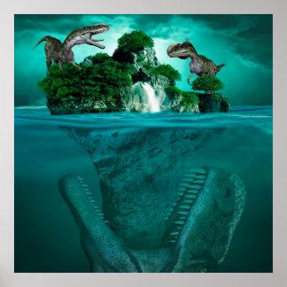 Fantasy Dinosaurs Poster