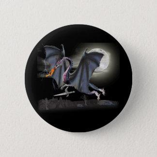 Fantasy dragon 6 cm round badge