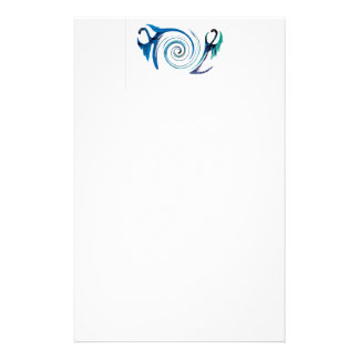 Fantasy Dragon Swirl Art Stationery