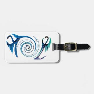 Fantasy Dragon Swirl Luggage Tag