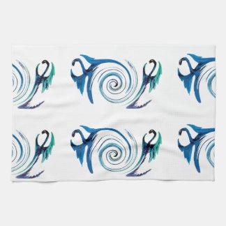 Fantasy Dragon Swirl Tea Towel