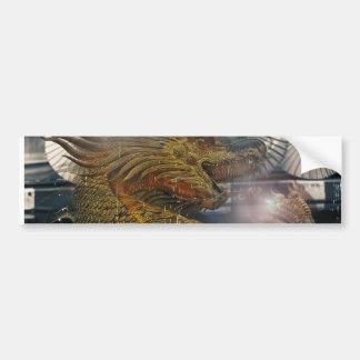 Fantasy Dragon Throne Bumper Sticker