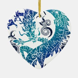 Fantasy Dragon Throne Ceramic Heart Decoration