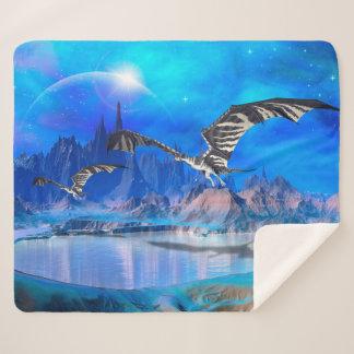 Fantasy Dragons Medium Sherpa Fleece Blanket