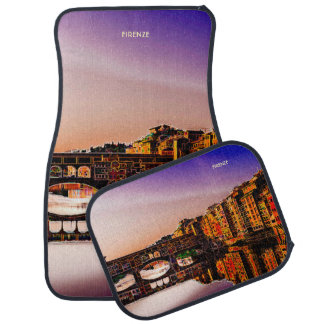 Fantasy Dusk In Florence With Ponte Vecchio View Car Mat