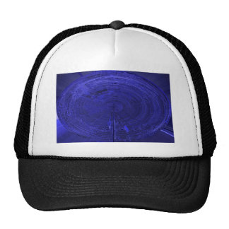 fantasy electronic circuit mesh hats