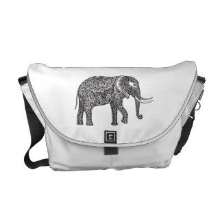 Fantasy Elephant Doodle Messenger Bag