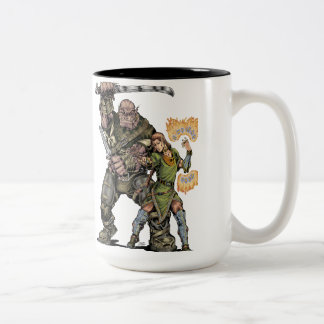 Fantasy Elf and Ogre Mug