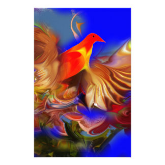 Fantasy Exotic Fire Bird Large size by CGB Digital Stationery