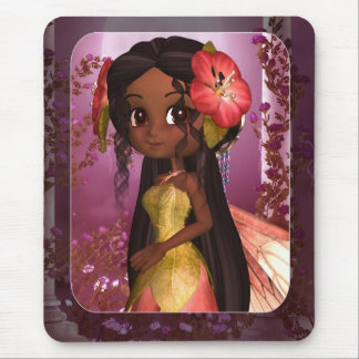 Fantasy Fairy Art Mousepad - African American Fay