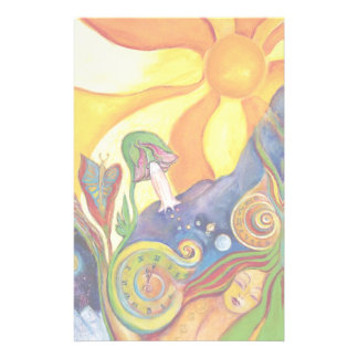 Fantasy Fairy Sunshine Dream Alice In Wonderland Custom Stationery