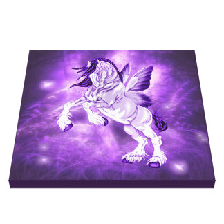 Fantasy Fairy Winged Clydesdale Horse Canvas Print