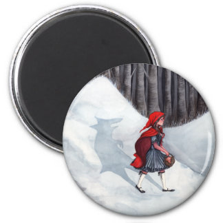 Fantasy Fairytale Art Magnet - Wolf Within