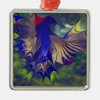Fantasy Flight Ancient effect by .jpg Silver-Colored Square Decoration