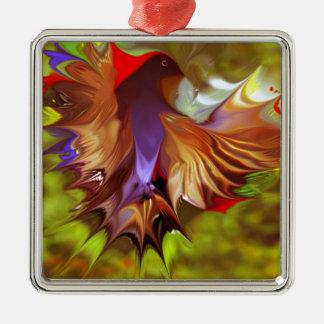 Fantasy Flight Bird by CGB Digital Art Warm.png Silver-Colored Square Decoration