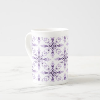 Fantasy Floral Faded Lavender Fractal Art Tea Cup
