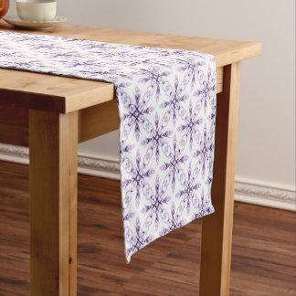 Fantasy Floral Faded Lavender Fractal Pattern Short Table Runner