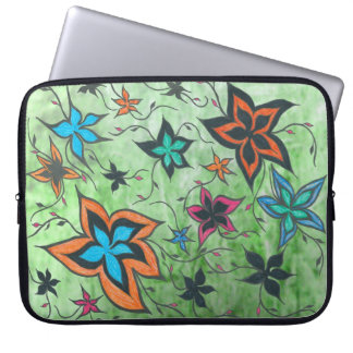 Fantasy Floral in green Laptop Sleeve