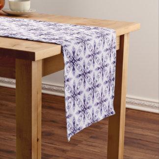 Fantasy Floral Medium Purple Fractal Design Short Table Runner