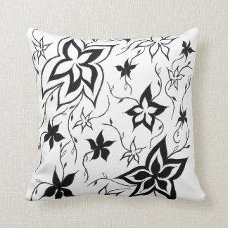 Fantasy Floral Monochrome Cushion