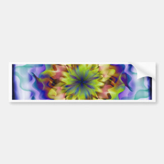 Fantasy flower bumper stickers