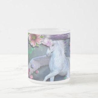 Fantasy Flower Garden Frame 10 Oz Frosted Glass Coffee Mug