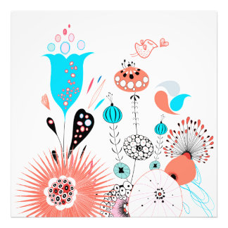 Fantasy Flowers and Birdie Art Photo