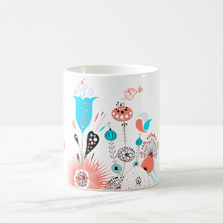 Fantasy Flowers and Birdie Coffee Mug