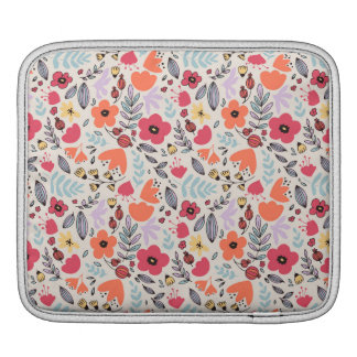 Fantasy flowers iPad sleeve