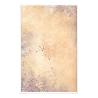 Fantasy Flowers - Purple Stationery Paper