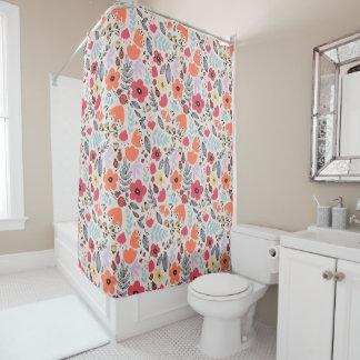 Fantasy flowers shower curtain