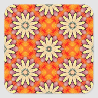 Fantasy Flowers! Square Sticker