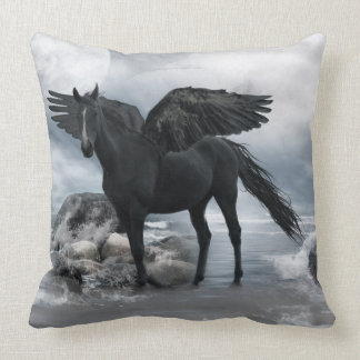 Fantasy flying horse cushion