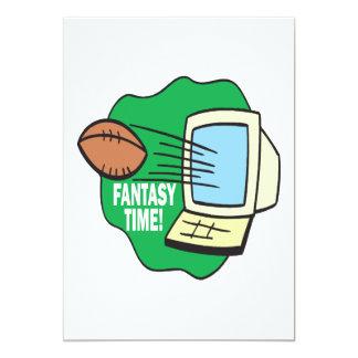 Fantasy Football 13 Cm X 18 Cm Invitation Card