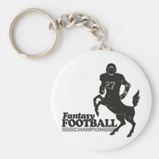 Fantasy Football Champ Basic Round Button Key Ring